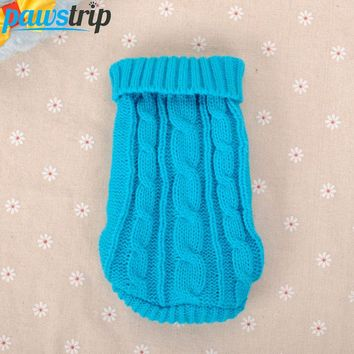 Small Dog Knitted Sweater Clothing Size 4-6