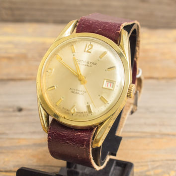 Vintage North-Star automatic watch by Choisi watch co. gold filled mens watch swiss watch