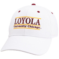 The Game Loyola Ramblers White 3D Bar Adjustable Hat