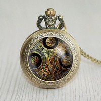 Handmade beauty and the beast pocket watch locket necklace beauty and the beast vintage Pendant locket necklace