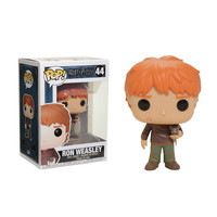 Funko Harry Potter Pop! Ron Weasley (With Scabbers) Vinyl Figure