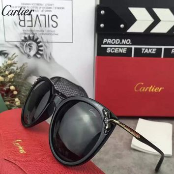 Cartier Woman Fashion Summer Sun Shades Eyeglasses Glasses Sunglasses 13