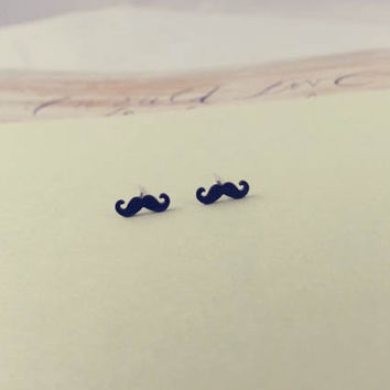 mustache earrings by LemonTreeLand on Etsy