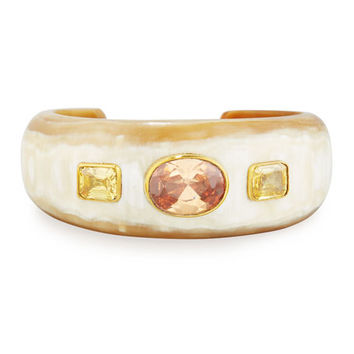 Ashley Pittman Uhuni Light Horn & Crystal Cuff Bracelet