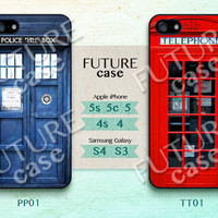 London Telephone Box iPhone 5c Case Doctor Who Police Box iPhone Case iphone 5s case iphone 5 case Hard or Soft Case-PPTT