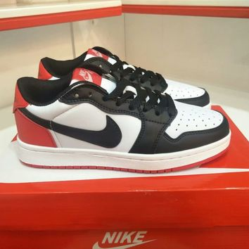 """Nike Air Jordan I"" Unisex Casual Fashion Multicolor Low Help Plate Shoes Basketball Shoes Couple Sneakers"