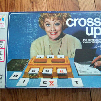 Cross Up - Vintage Board Game Milton Bradley w/ Lucile Ball on Box 1974