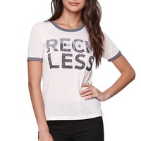 Young & Reckless Sup Skate Palm Ringer T-Shirt - Womens Tee - White