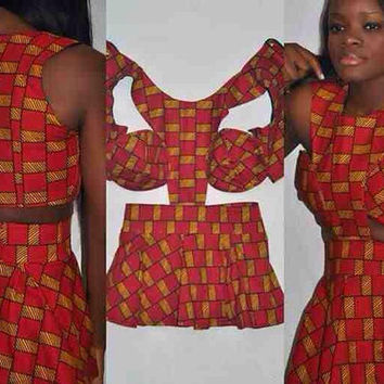 Charming and Versatile Print African Dress hot