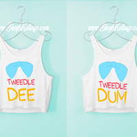 Tweedle Dee Tweedle Dum Crop Tank Top