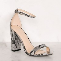 Superstition Heels - Snakeskin