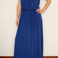 Cobalt blue Maxi Dress Long Dress for Women