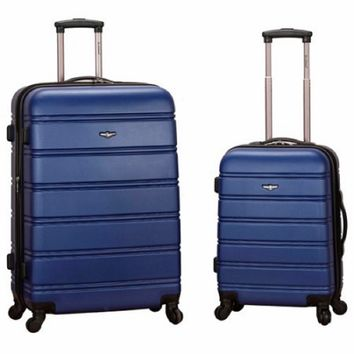 2-Piece Expandable ABS Spinner Luggage Set