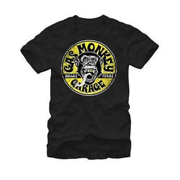Gas Monkey Garage Equipped Logo Circle Licensed Adult T-Shirt