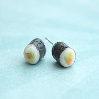 California Maki Sushi Earrings