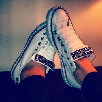 CREYUG7 ANY COLOR Studded Converse Shoes