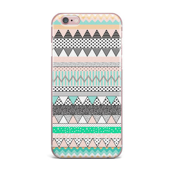 "Vasare Nar ""Chevron Motif"" Pink Teal iPhone Case"