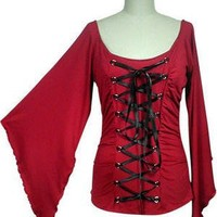 Sexy Slinky Batwing Top Gothic Vintage Victorian Fancy Dress LARP Corset Sizes 8-26: Amazon.co.uk: Clothing