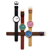 Picto (dusty blue/dark brown) | Designer Watches | Dezeen Watch Store