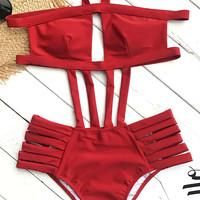 Cupshe Keep Burning Halter One-piece Swimsuit