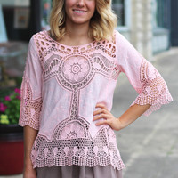Crochet Chaser Overlay Top {Peach}