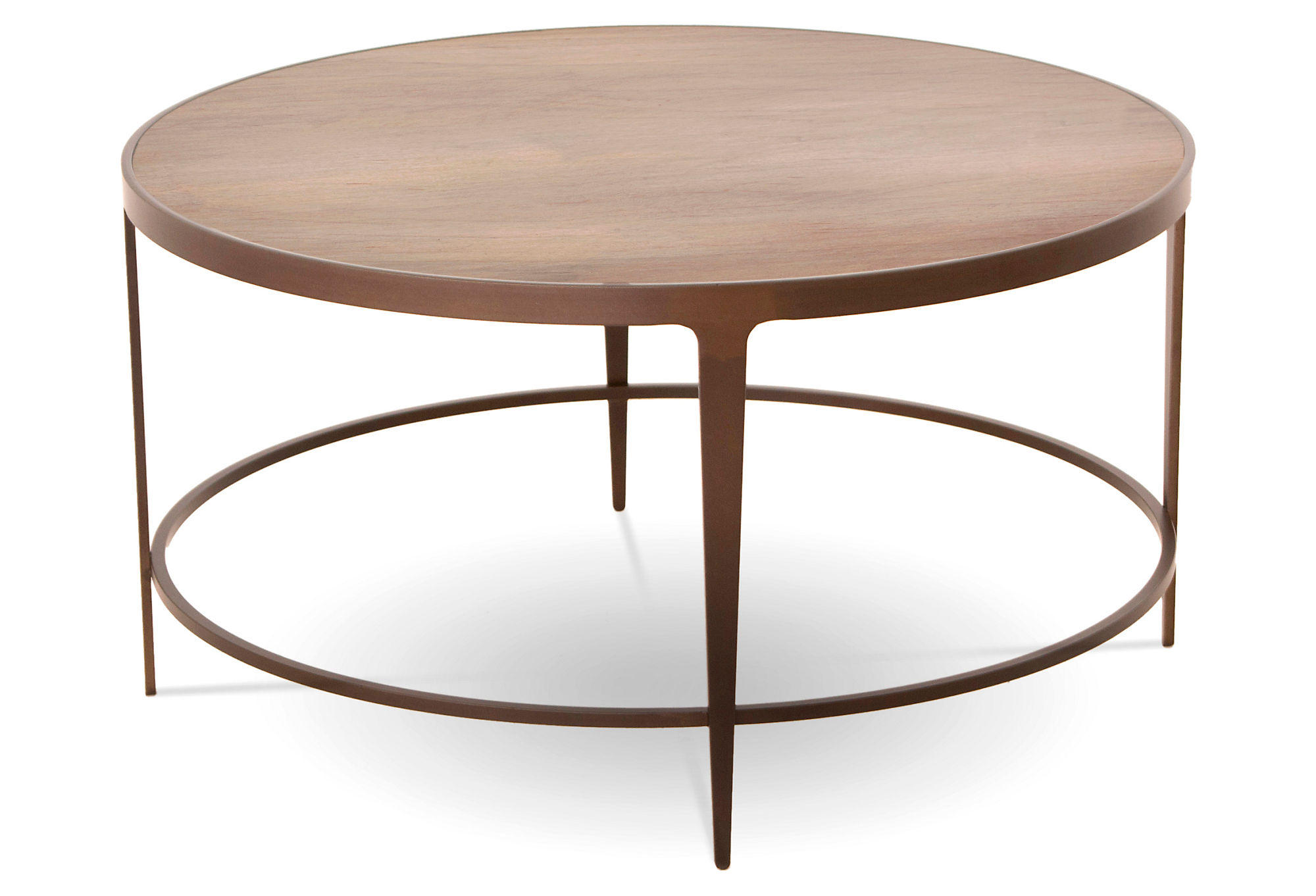 Sawyer 35 Round Cocktail Table Oyster From One Kings Lane