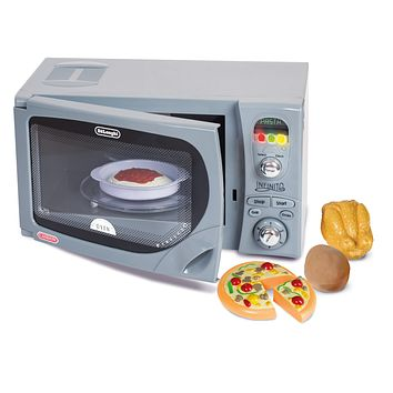 Kids Pretend Play Interactive Realistic Countertop Microwave Oven Toy Playset