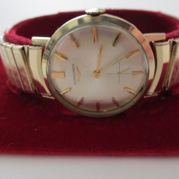 Vintage Longines 10K Yellow Gold Filled 17 Jewels Watch in Box