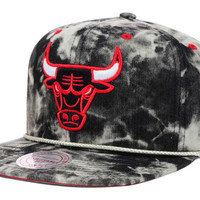 Chicago Bulls NBA Blacid Wash Denim Snapback Cap