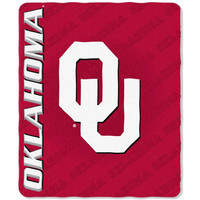 Oklahoma Sooners NCAA Light Weight Fleece Blanket (Mark Series) (50inx60in)