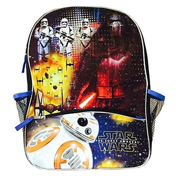 Star Wars Ep7 16-Inch Backpack with Pencil Case with BB8