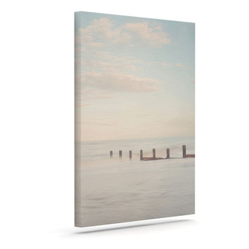 """Laura Evans """"The Rising Tide"""" Brown Gray Canvas Art"""