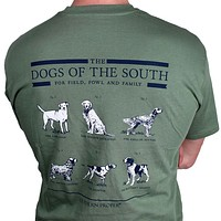 Dogs of the South in Green by Southern Proper - FINAL SALE