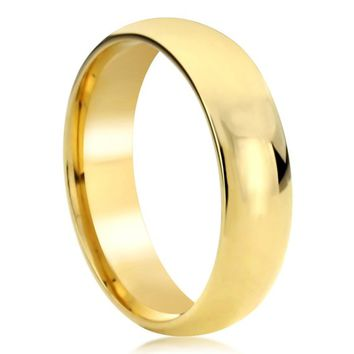 Women's Men's 14K Solid Yellow/Rose/White Gold 7mm Promise Ring Wedding Band Plain Classic Stackable Thumb Ring Index Ring - LI07MM