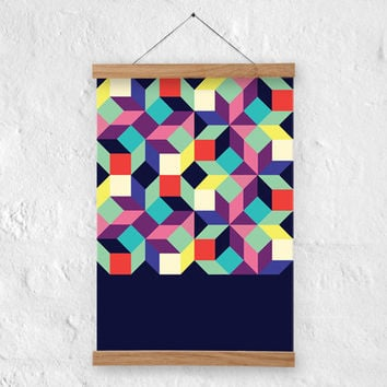 Geometric art, abstract print, mid century modern print- A4, A3 size - 100% recycled paper