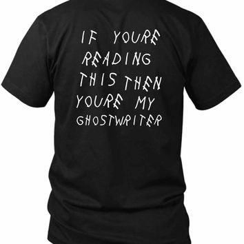 Drake Ghostwrite Lyric 2 Sided Black Mens T Shirt