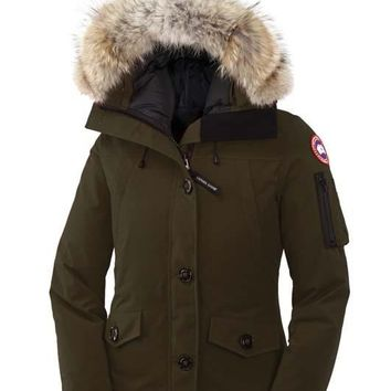 Canada goose winter WOMEN montebello Down jacket/ArmyGreen