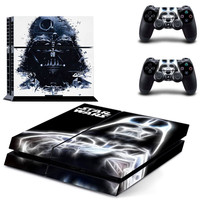 PS4 STAR WARS Decal  Cover For Playstation 4 Console and Two Controller Skin