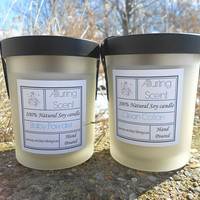 You pick - Buy two and save 3.00. Wood wick, natural soy candle.