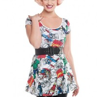 Marvel Comics Skater Dress