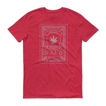 Sativa Indica Mens Short-Sleeve T-Shirt
