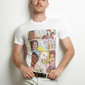 Clueless Comic Strip White T-Shirt