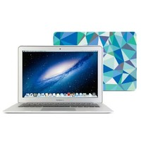 GMYLE Rubber Coated Hard Shell Case for  MacBook Air 13 Inch - Blue Geometric