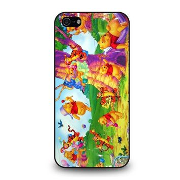 winnie the pooh cartoon iphone 5 5s se case cover  number 1
