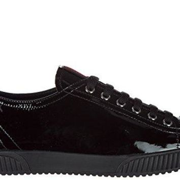 Prada Women's Shoes Leather Trainers Sneakers Nappa Sport Black