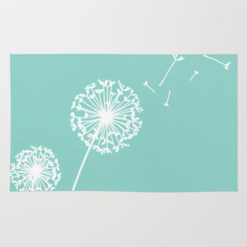 Dandelion Nursery Rug, Woodland Nusery Decor, Customizable, 2x3, 3x5, 4x6
