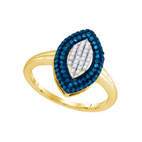 Blue Diamond Fashion Ring in 10k Gold 0.4 ctw