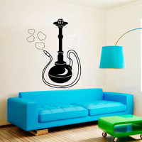 Wall Decal Sticker Hookah Hooka Shisha Lounge Relax Inscription Bar Hause M1572