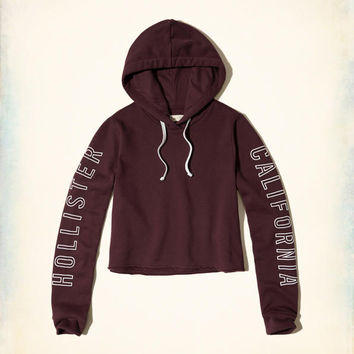 Cropped Logo Graphic Hoodie