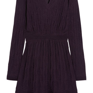 M Missoni - Crochet-knit wool-blend dress